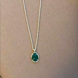 Kendra Scott kiri necklace emerald green stone